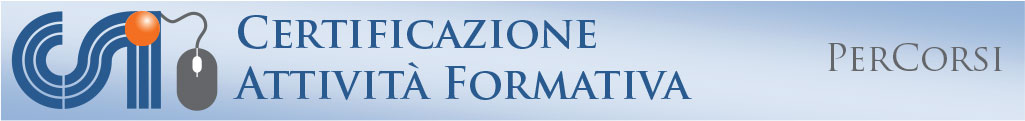Certificazione attivita' formativa - PerCorsi